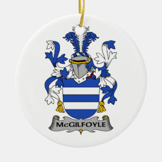 Escudo de la familia de McGilfoyle Ornamento De Navidad