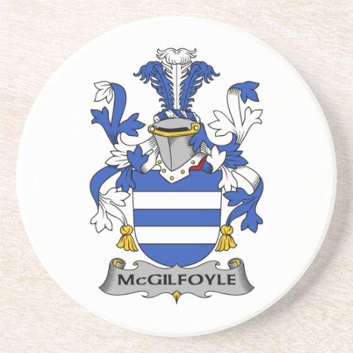 Escudo de la familia de McGilfoyle Posavasos Para Bebidas