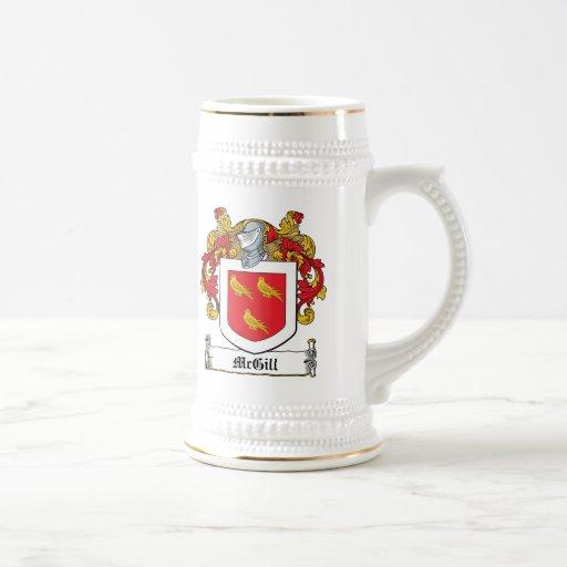 Escudo de la familia de McGill Jarra De Cerveza