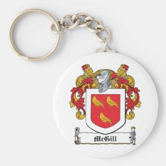 Escudo de la familia de McGill Llavero Redondo Tipo Pin