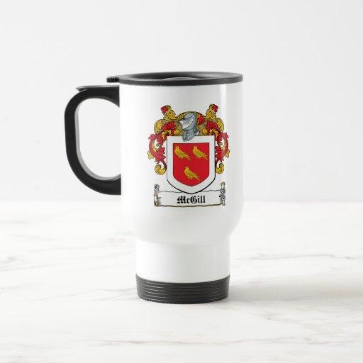 Escudo de la familia de McGill Taza De Viaje De Acero Inoxidable