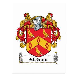 Escudo de la familia de McGinn Tarjeta Postal