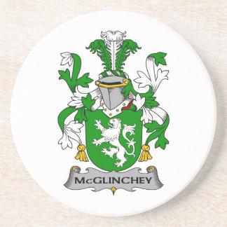 Escudo de la familia de McGlinchey Posavasos Manualidades