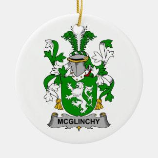 Escudo de la familia de McGlinchy Ornaments Para Arbol De Navidad