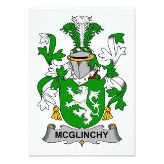 Escudo de la familia de McGlinchy Invitación 12,7 X 17,8 Cm