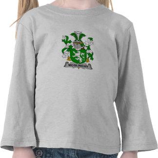 Escudo de la familia de McGlinchy Camisetas