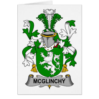 Escudo de la familia de McGlinchy Felicitacion