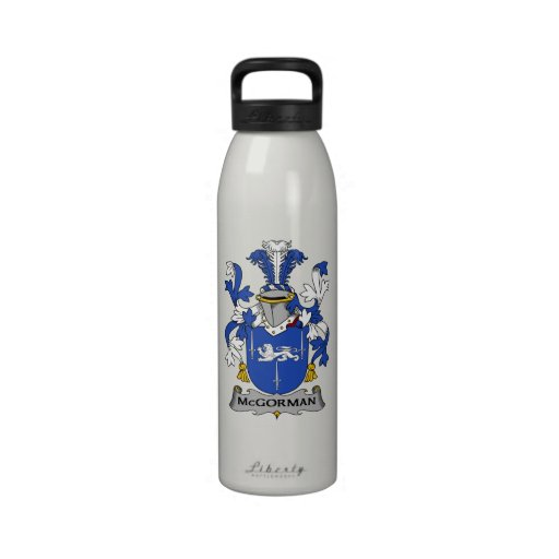 Escudo de la familia de McGorman Botella De Agua Reutilizable