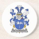 Escudo de la familia de McGorman Posavasos Cerveza