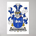 Escudo de la familia de McGorman Posters