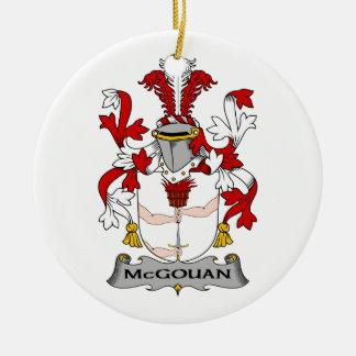 Escudo de la familia de McGouan Adorno De Navidad