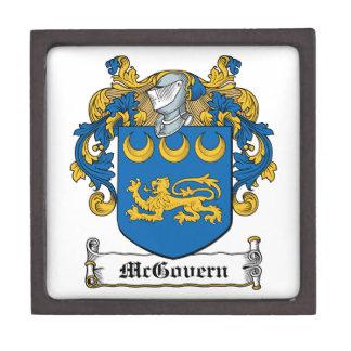 Escudo de la familia de McGovern Caja De Regalo De Calidad