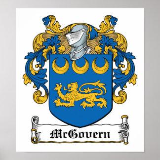 Escudo de la familia de McGovern Poster