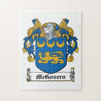 Escudo de la familia de McGovern Puzzle Con Fotos