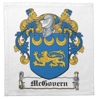 Escudo de la familia de McGovern Servilletas De Papel