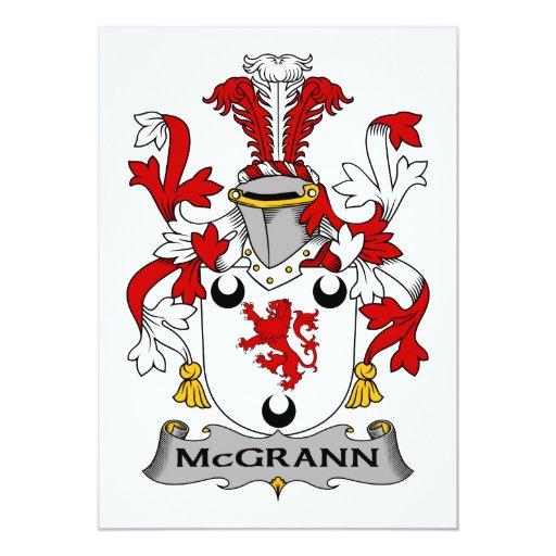 Escudo de la familia de McGrann Invitaciones Personales