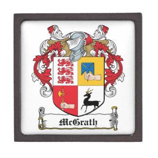 Escudo de la familia de McGrath Cajas De Recuerdo De Calidad
