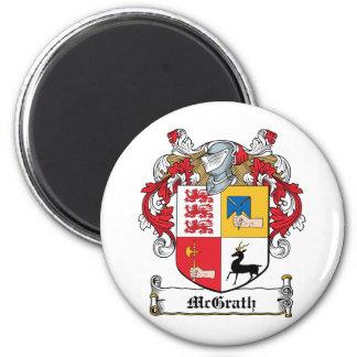 Escudo de la familia de McGrath Imán Redondo 5 Cm