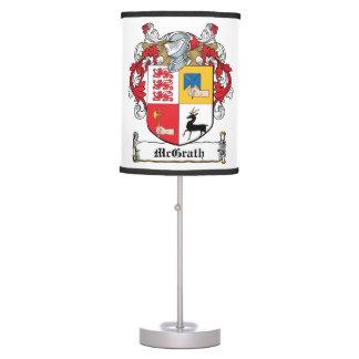 Escudo de la familia de McGrath Lámpara De Mesilla De Noche