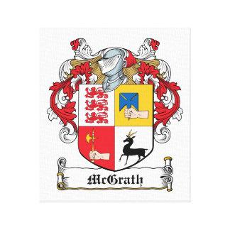 Escudo de la familia de McGrath Lona Envuelta Para Galerias