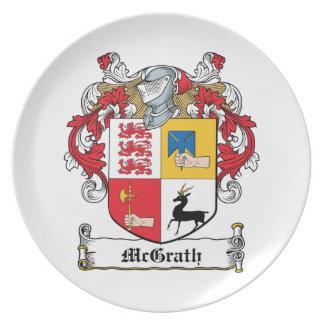 Escudo de la familia de McGrath Plato De Cena