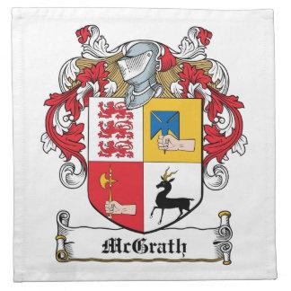 Escudo de la familia de McGrath Servilleta
