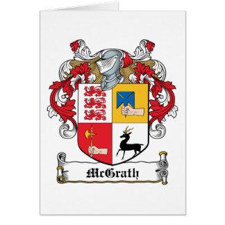 Escudo de la familia de McGrath Tarjeta De Felicitación