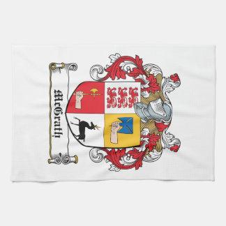 Escudo de la familia de McGrath Toallas De Mano