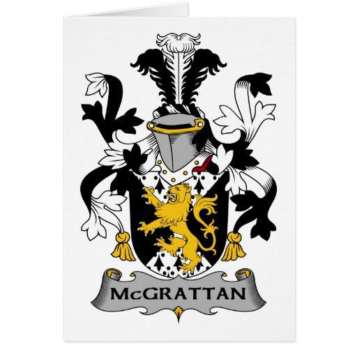 Escudo de la familia de McGrattan Tarjeta De Felicitación