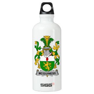 Escudo de la familia de McGuiness Botella De Agua