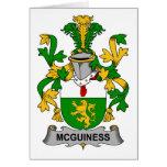 Escudo de la familia de McGuiness Felicitación