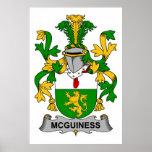 Escudo de la familia de McGuiness Impresiones