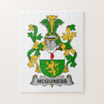 Escudo de la familia de McGuiness Rompecabeza Con Fotos