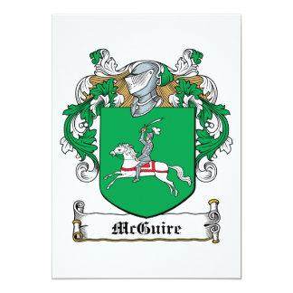 """Escudo de la familia de McGuire Invitación 5"""" X 7"""""""