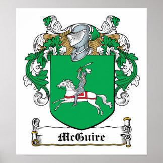 Escudo de la familia de McGuire Póster