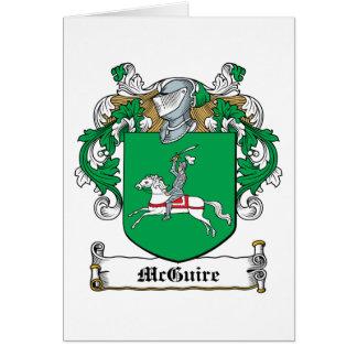Escudo de la familia de McGuire Tarjeta De Felicitación
