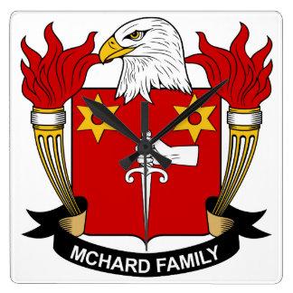 Escudo de la familia de McHard Reloj Cuadrado