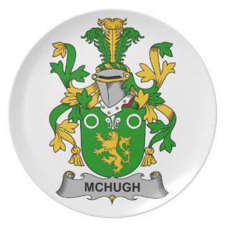 Escudo de la familia de McHugh Platos De Comidas