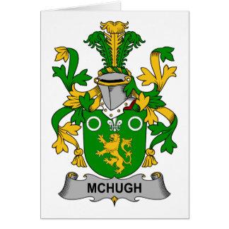 Escudo de la familia de McHugh Tarjeta De Felicitación