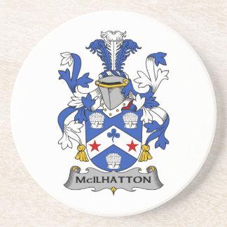Escudo de la familia de McIlhatton Posavaso Para Bebida