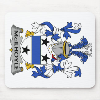 Escudo de la familia de McIlhoyle Tapete De Raton