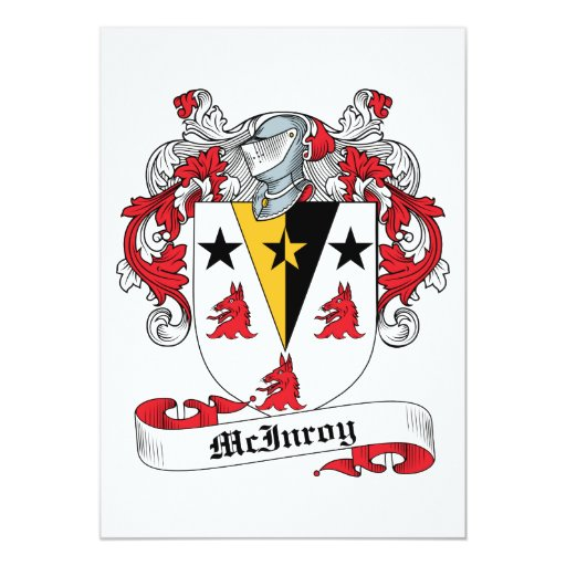 """Escudo de la familia de McInroy Invitación 5"""" X 7"""""""