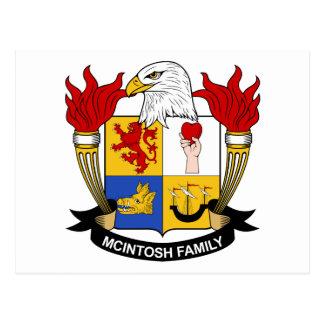 Escudo de la familia de McIntosh Postales