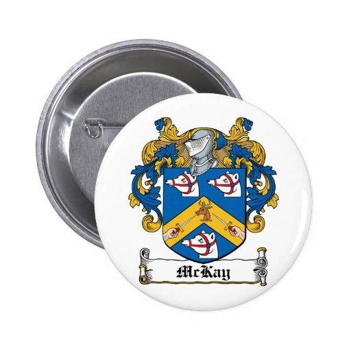 Escudo de la familia de McKay Pin Redondo 5 Cm