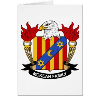 Escudo de la familia de McKean Tarjeta De Felicitación