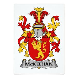 Escudo de la familia de McKeehan Invitación 12,7 X 17,8 Cm