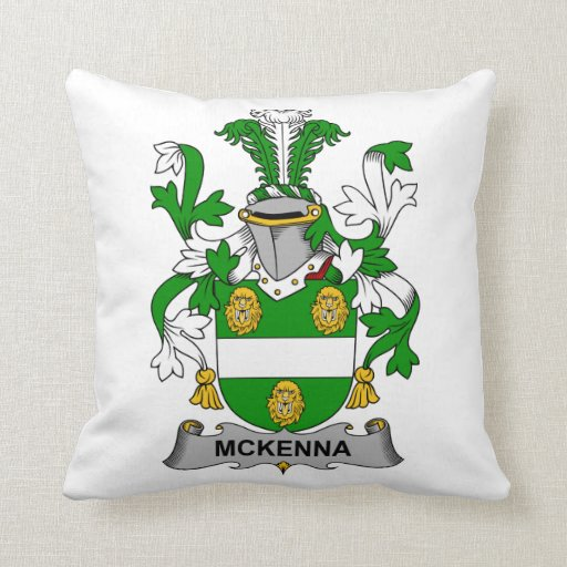 Escudo de la familia de McKenna Almohadas