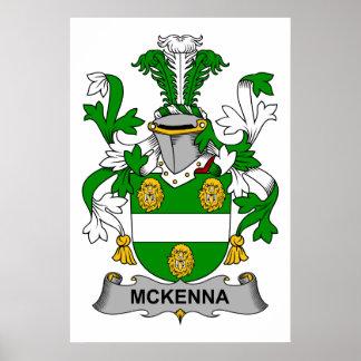 Escudo de la familia de McKenna Póster