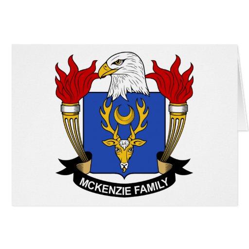 Escudo de la familia de McKenzie Tarjetas
