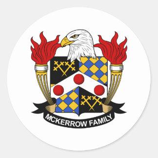Escudo de la familia de McKerrow Pegatinas Redondas